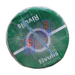 Rivulis Hydrodrip 22 Mm 12 Mil 30 Cm 1.6 Lt/h 1.100 Mt Yassı Damlama Borusu